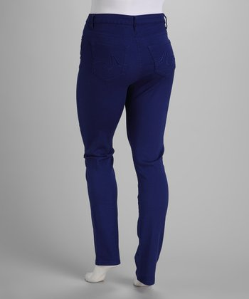 Electric Blue Stretch Skinny Jeans - Plus