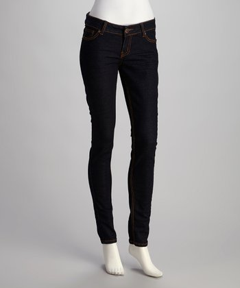 Dark Blue Skinny Jeans - Plus