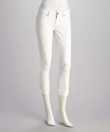 White Denim Capri Pants