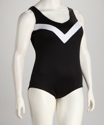 Black & White One-Piece - Women & Plus
