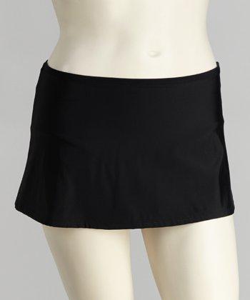 topanga By T.H.E. Black Skirted Bikini Bottoms - Women & Plus