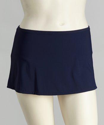 topanga By T.H.E. Navy Skirted Bikini Bottoms - Women & Plus