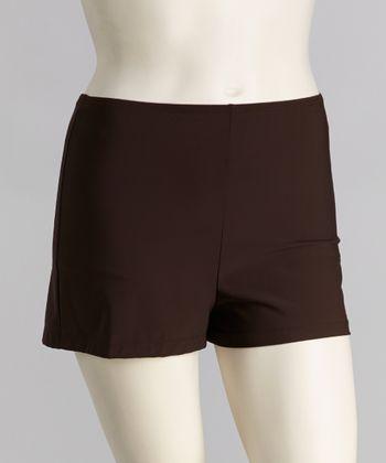 topanga By T.H.E. Brown Swim Shorts - Women & Plus