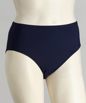 topanga By T.H.E. Navy High-Waisted Bikini Bottoms - Women & Plus