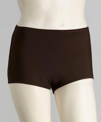 topanga By T.H.E. Brown High-Waisted Boyshort Bikini Bottoms - Women & Plus