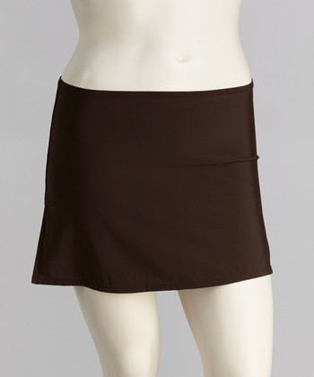 Brown Cover-Up Skirt - Women & Plus