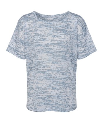 Light Blue Kyle Burnout Tee - Women