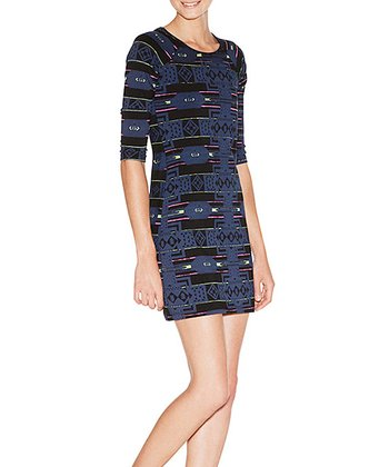 Blue Tribal Vaneza Dress