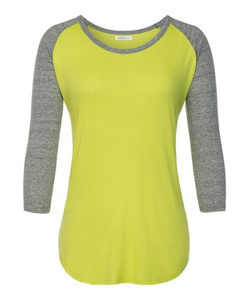 Tendershoot & Heather Gray Raglan Tee - Women