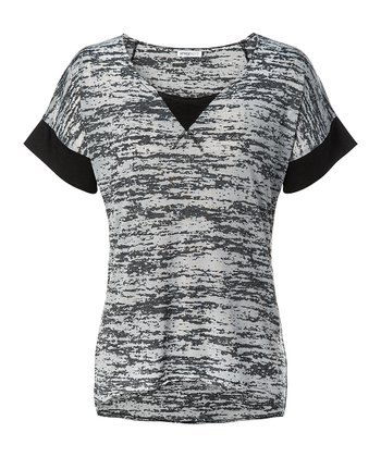 Black Carnaby Burnout Tee - Women