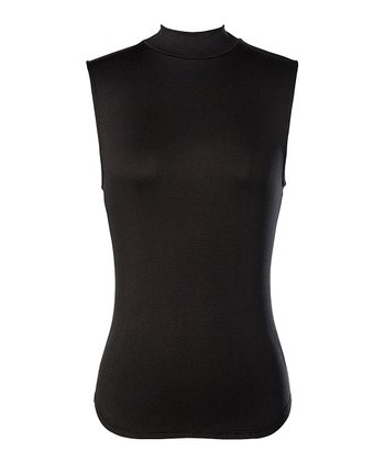 Black Hartford Sleeveless Mock Neck Top