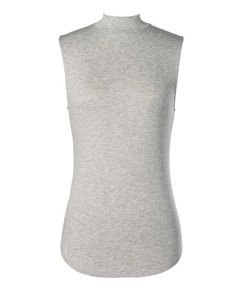 Gray Hartford Sleeveless Mock-Neck Top - Women