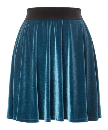 Ink Blue Primrose Skirt - Women