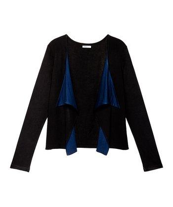 Navy & Black Benson Open Cardigan