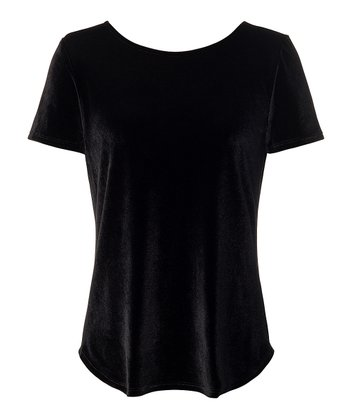 Black Larkin Velvet Top - Women