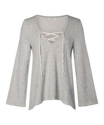 Light Gray Waller Top - Women
