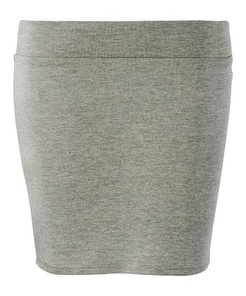 Heather Grey Lexi Miniskirt - Women