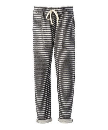 Navy Stripe Tribeca Lounge Pants - Women