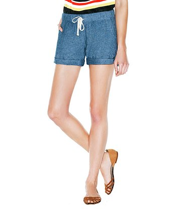 Chambray Rosa Shorts - Women