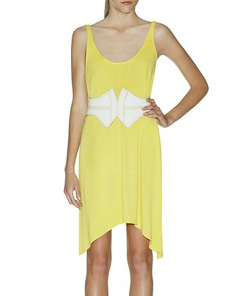 Blazing Yellow Charlie Sidetail Dress - Women
