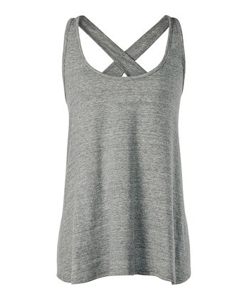 Heather Gray Harlow Cross-Back Tank - Women