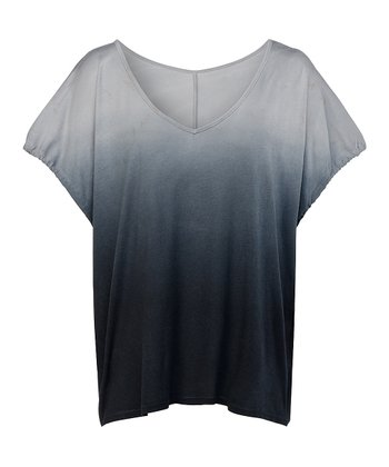 Black Ombré Ashburry Top - Women