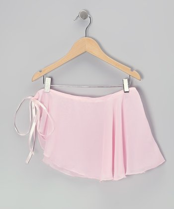Pink Chiffon Wrap Skirt - Girls