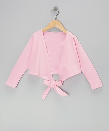 Pink Wrap Crop Top - Girls
