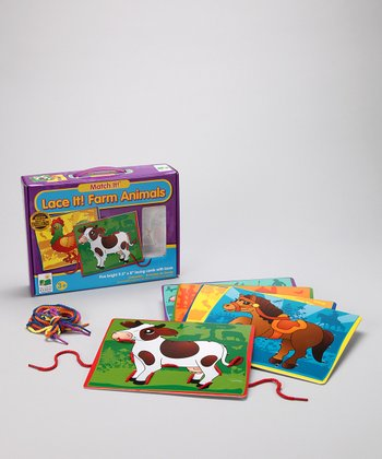 Farm Animals Match It! Lace It! Lacing Cards