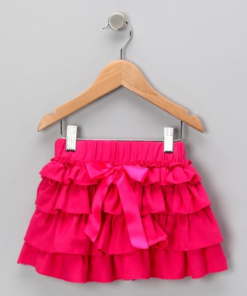 Hot Pink Tiered Ruffle Skirt - Toddler & Girls