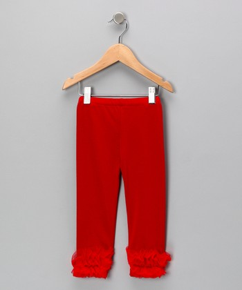 Red Ruffle Leggings - Toddler & Girls