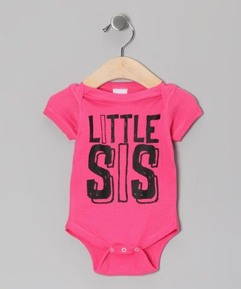 Hot Pink 'Little Sis' Bodysuit - Infant