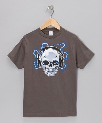 Charcoal Electric Skull Tee - Infant, Toddler & Boys