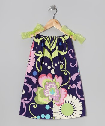 Pink & Citron Lime Paradise Garden Dress - Toddler