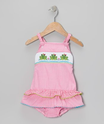 Pink Frog Skirted One-Piece - Infant & Toddler