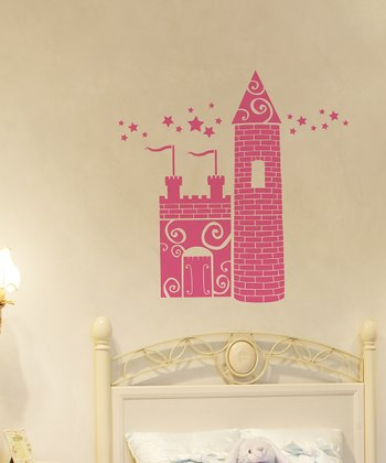 Pink Princess Castle Wall Decal