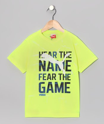 Safety Yellow 'Name' Tee - Toddler & Boys