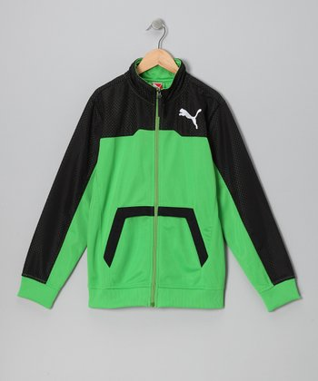 Classic Green Performance Track Jacket - Toddler & Boys