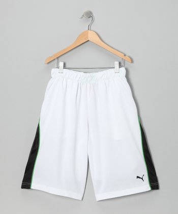 White Formstrip Shorts - Boys