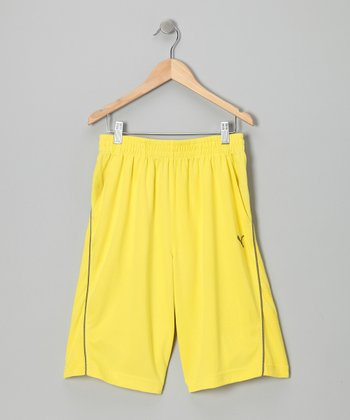 Blazing Yellow Active Shorts - Toddler & Boys