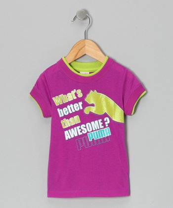 Purple Cactus 'Awesome' Tee - Toddler & Girls