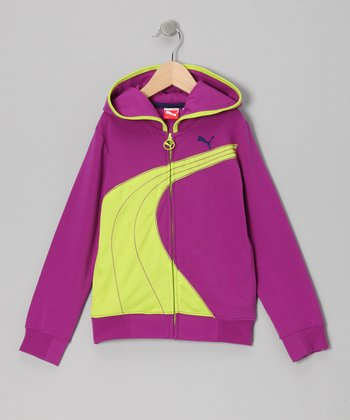 Purple Cactus Formstrip Hoodie - Toddler & Girls