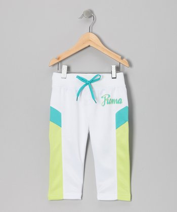 White Color Block Capri Pants - Toddler & Girls