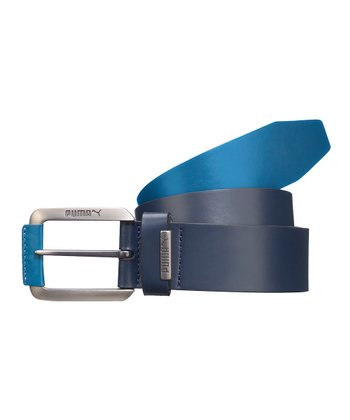 Navy Blueprint Fitted Belt
