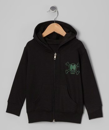 Black Skull Zip-Up Hoodie - Infant & Kids