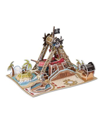 Swinging Pirate Ship Ride 3-D Puzzle