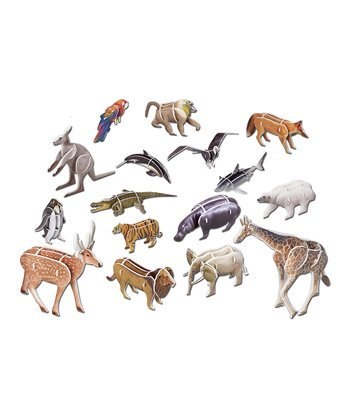 Animals 3-D Puzzle Set