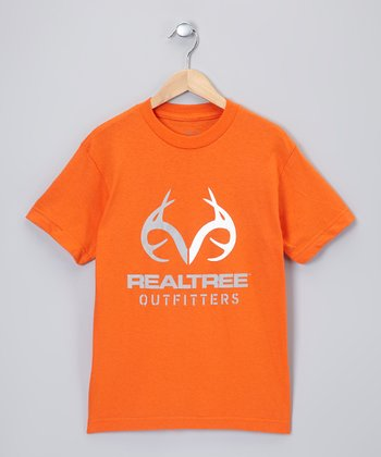 Orange Logo Tee - Boys
