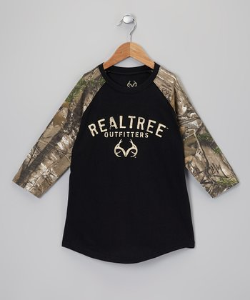 Black & Tan Camo Raglan Tee