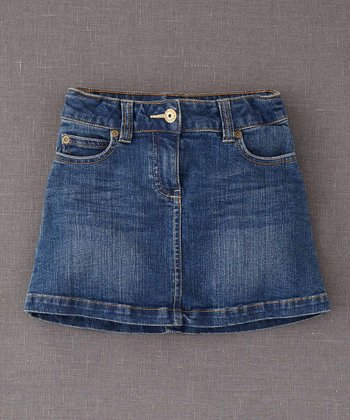 Denim Heart Pocket Skirt - Girls